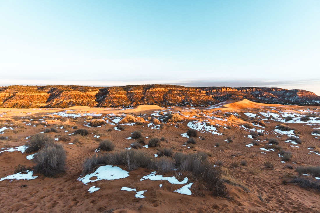 Coral Pink Sand Dunes State Park During Sunset