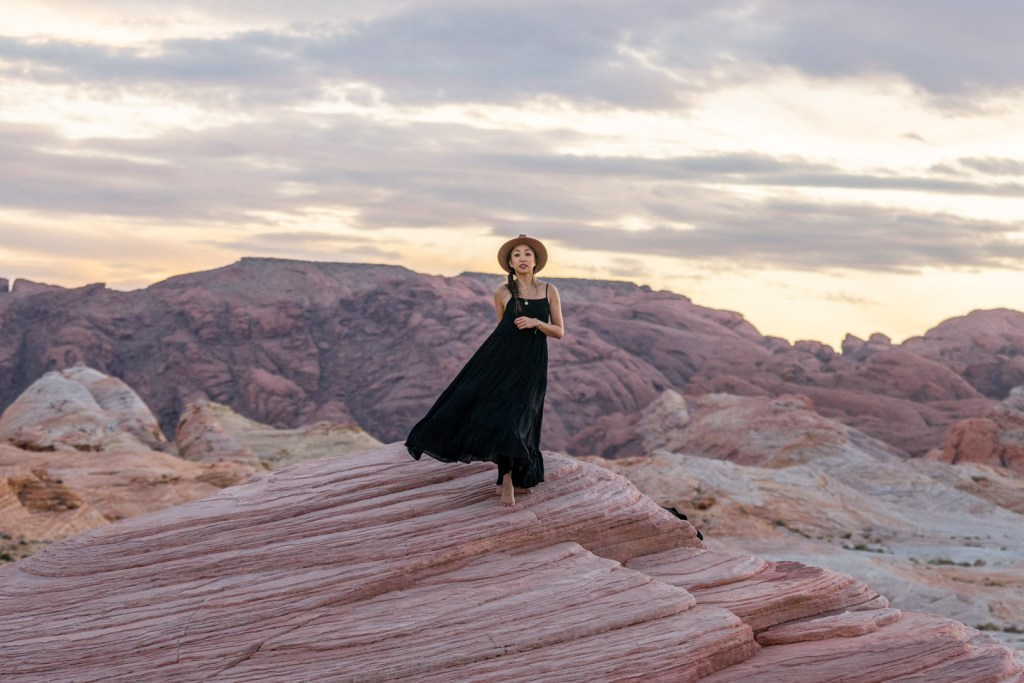 Dress Twirling on Top of the Fire Wave