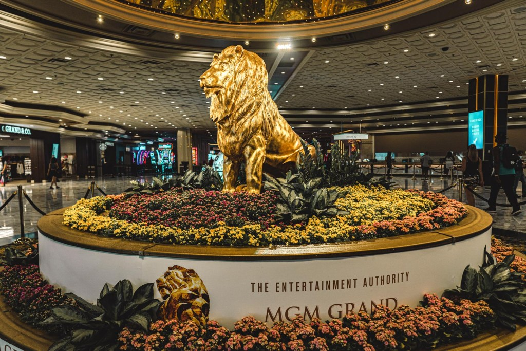 MGM Grand's Lion at the Lobby