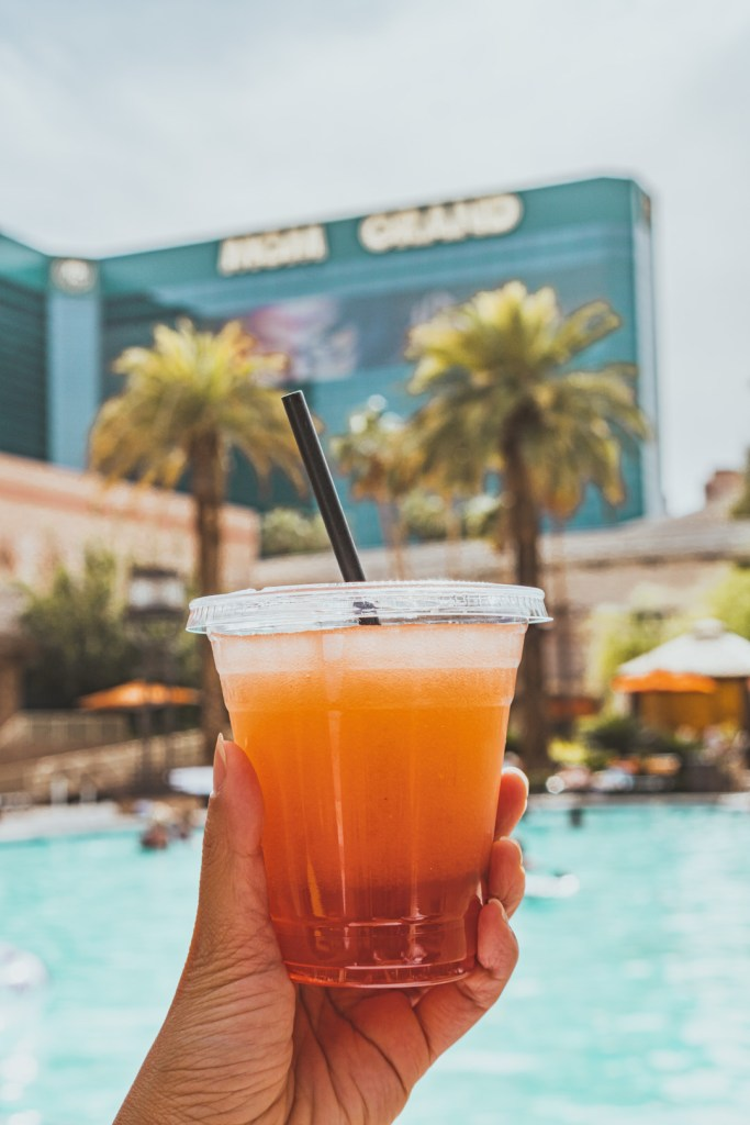 Froze drink at the MGM Grand Pool