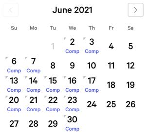 Bellagio myVEGAS Rewards Calendar (June 2021)
