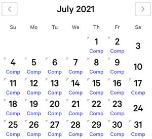 NY NY myVEGAS Rewards Calendar (July 2021)