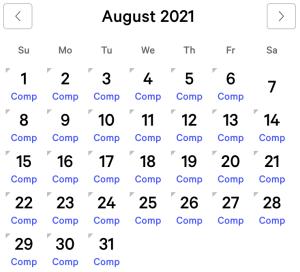 Mirage myVEGAS Rewards Calendar (August 2021)