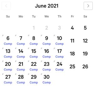 Aria myVEGAS Rewards Calendar (June 2021)