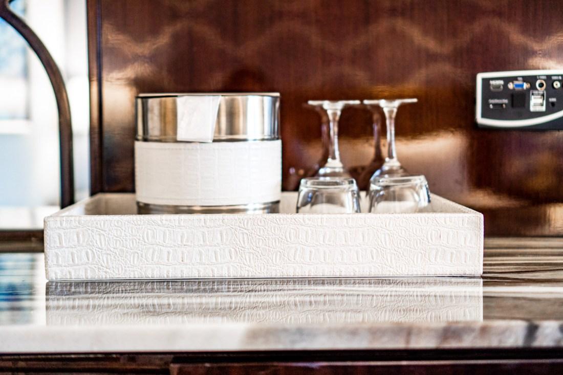 Ice Bucket and Wine Glasses