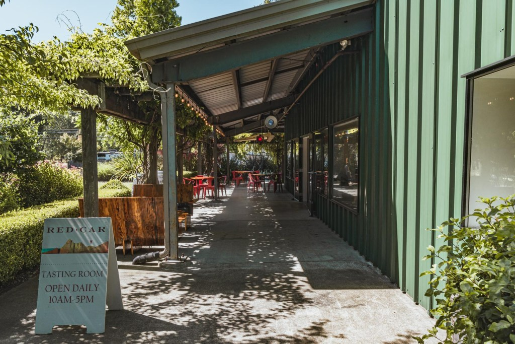 Outdoor Patio of Red Car Wines