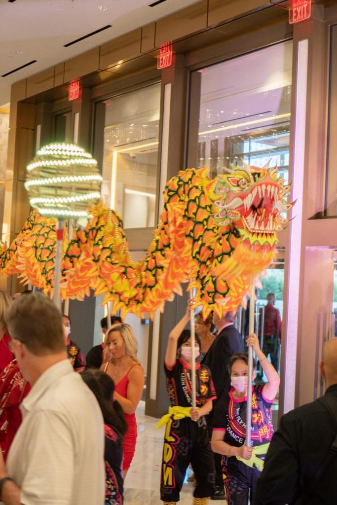 Dragon Dance at Crockfords' Lobby