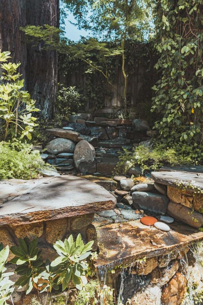 Waterfall at Simi Winery