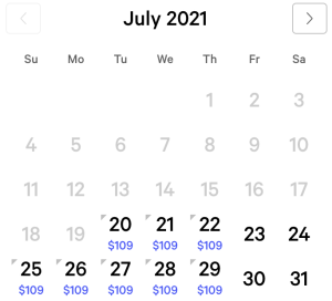 Aria Exclusive Rates July 2021