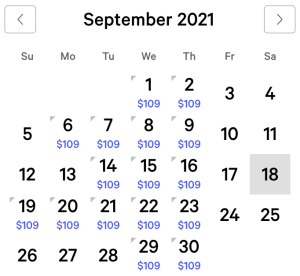 Aria Exclusive Rates September 2021