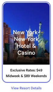 NY NY Exclusive Rates