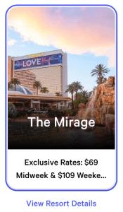 Mirage Exclusive Rates