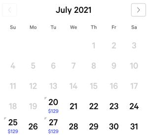 Mlife Sapphire Calendar