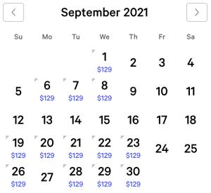Bellagio Exclusive Rates September 2021