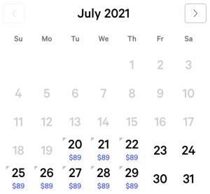 Vdara Exclusive Rates July 2021