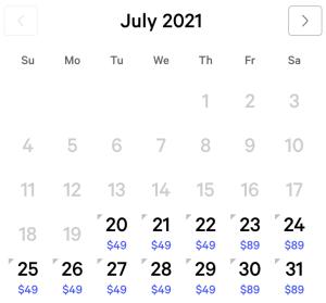 NY NY Exclusive Rates July 2021