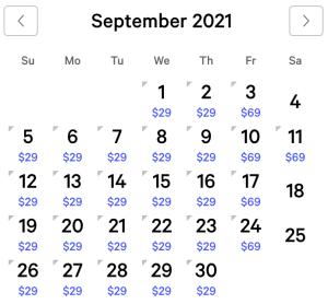 Excalibur Exclusive Rates September 2021