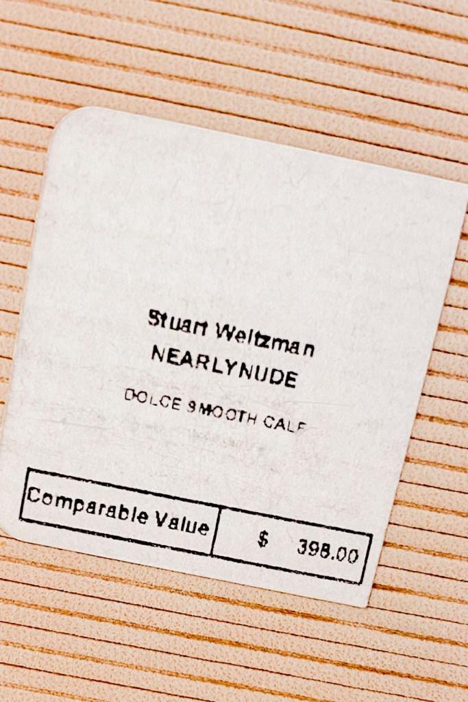 Stuart Weitzman NearlyNude Heels Price