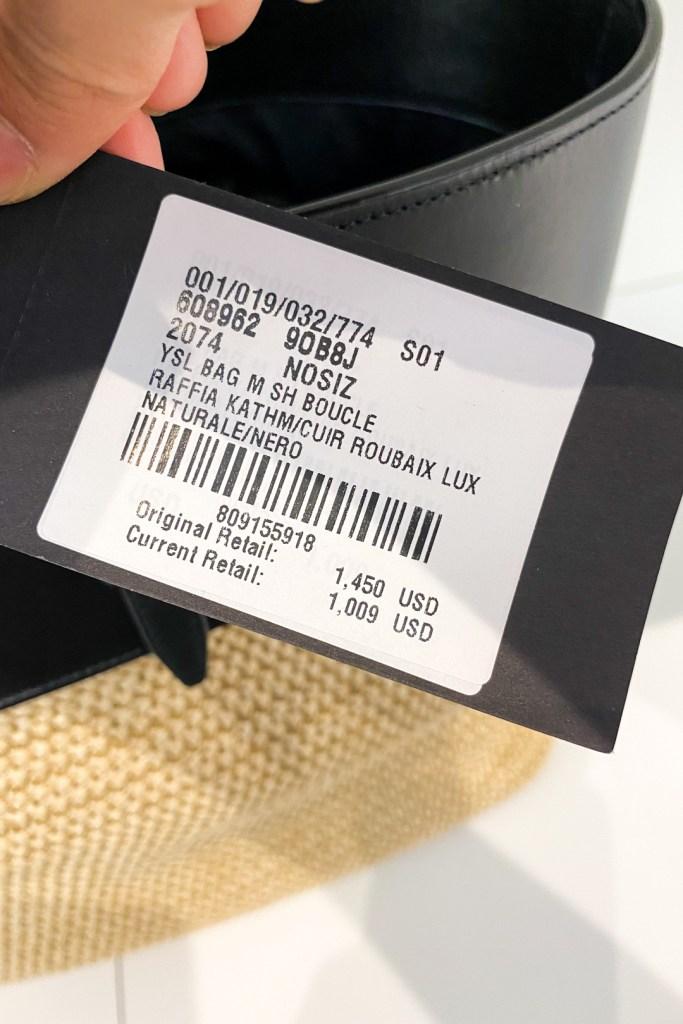 Saint Laurent Medium Raffia Shopping Tote Outlet Price