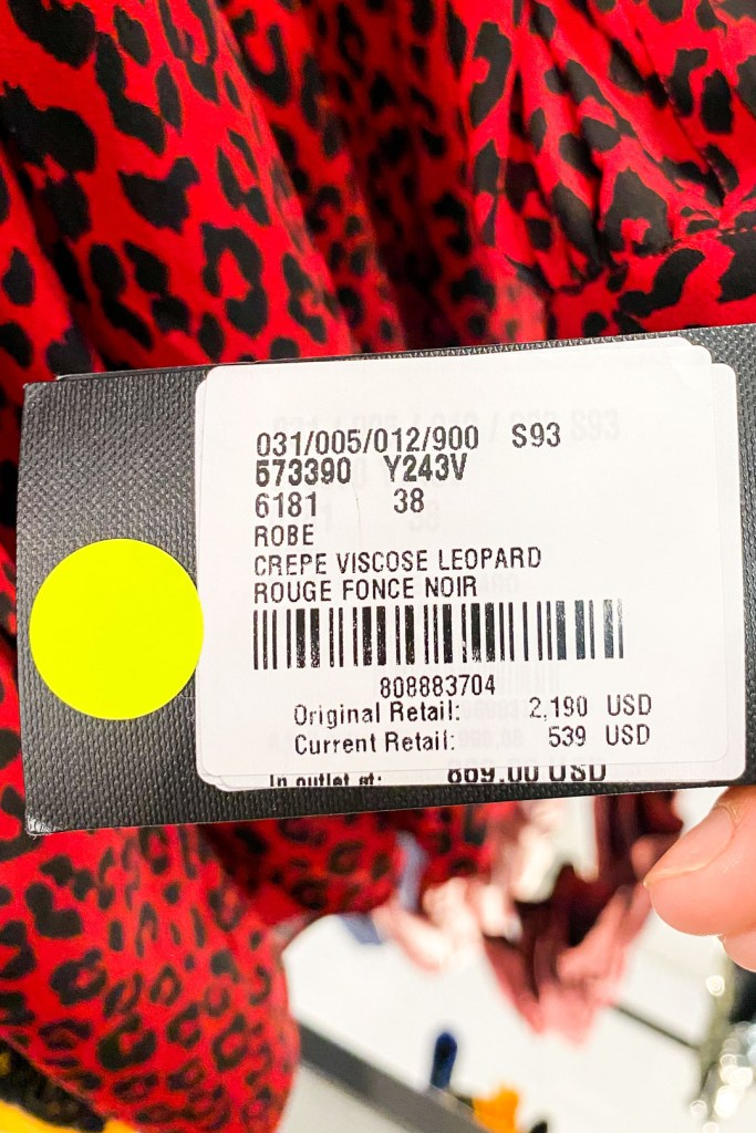 Saint Laurent Red Leopard Print Dress Outlet Price