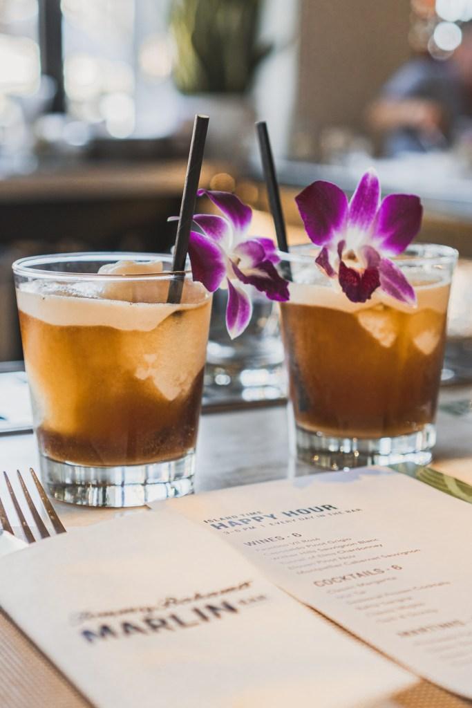 Tommy Bahama Marlin Bar Palm Springs Happy Hour Drinks - Frozen Mai Tais