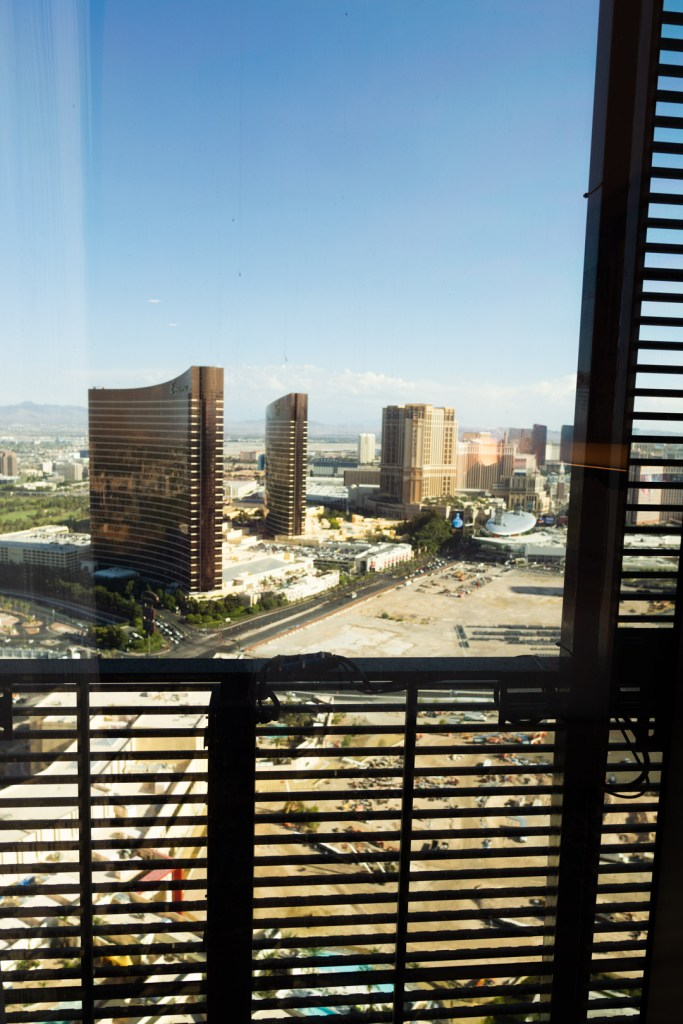 Resorts World LED Screen from inside the Las Vegas Hilton room