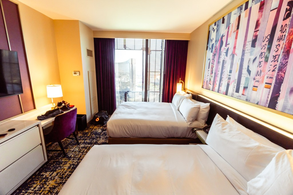 Wide-Angle Picture of Two Queen Beds Rooms at the Las Vegas Hilton