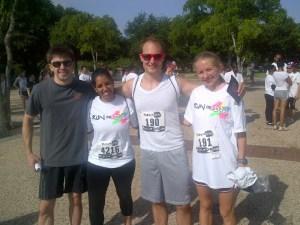group at color run