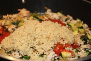 adding quinoa