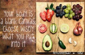 choose what you put into your body - blog 6.10.13
