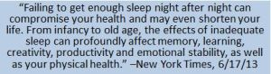 sleep from new york times