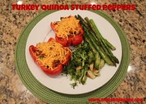 turkey quinoa stuffed peppers