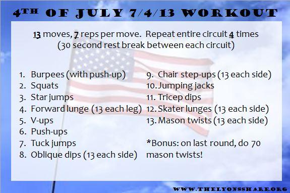 7.4.13 workout