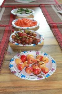 adding fruits and veggies