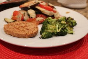 summer vegetable  bake dinner