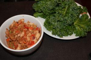 quinoa tofu kale lettuce wraps
