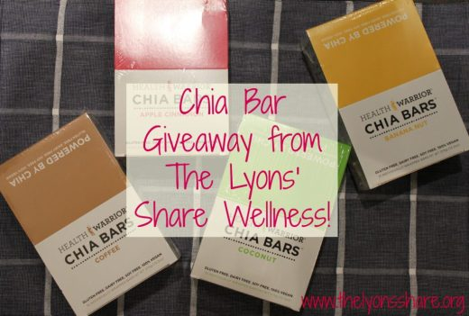 chia bar giveaway from the lyons share