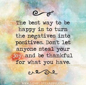 turn negatives into positives
