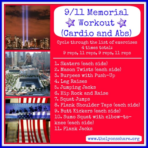 9.11 Memorial workout from The Lyons Share