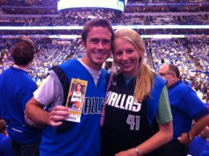 kev and megan mavs game