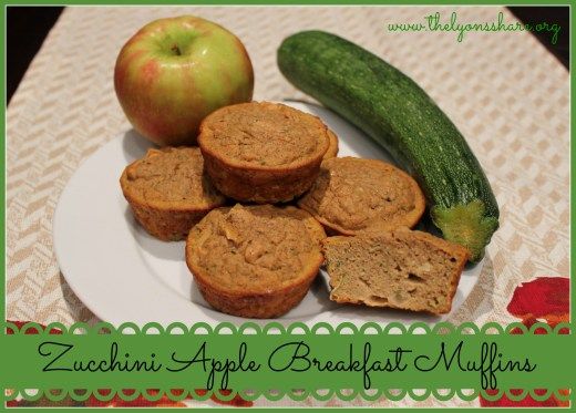 Zucchini Apple Breakfast Muffins from The Lyons' Share