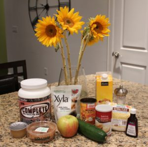 zucchini apple muffin ingredients
