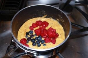 adding berries