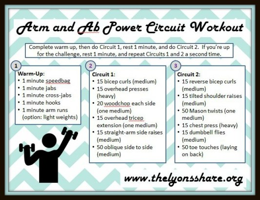 arm and ab power circuit workout The Lyons Share