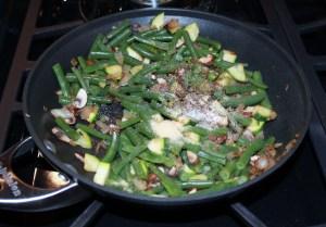 veggies sauteed