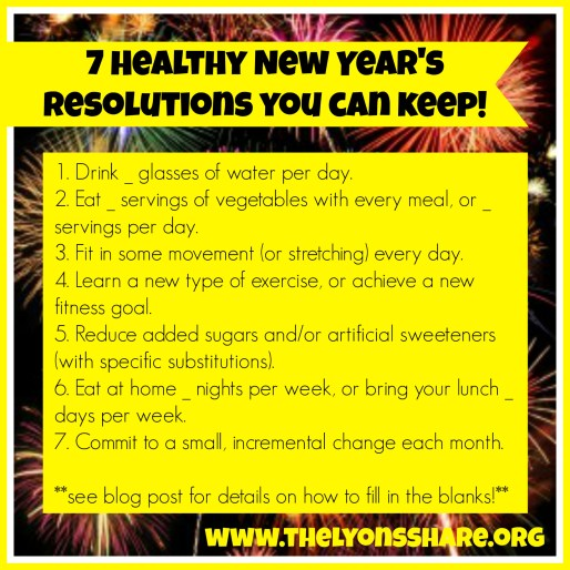7 Health New Years Resolutions You Can Keep