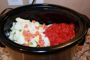 veggies in crockpot
