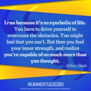 running is symbolic of life