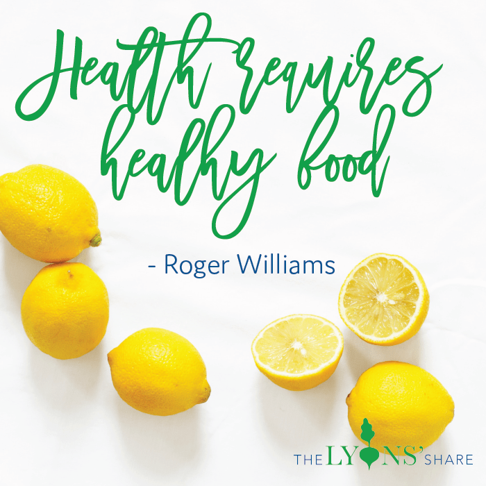 Health requires healthy food quote