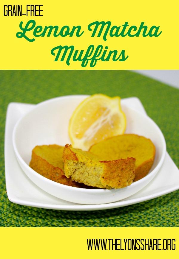 Lemon Matcha Muffins The Lyons Share 2